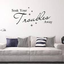 Aw9162 Soak Your Troubles Away English Quote Wall Sticker Bubble Vinyl Wall Decals Art Vinyl Wall Quotes Flowers Wall Stickers Football Wall Stickers From Qiansuning888 12 47 Dhgate Com