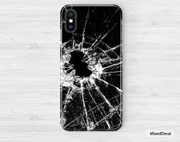 Iphone Broken Decal Skin Kit Sticker Iphone Xs Case For The Etsy