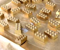 gold lego mirror frame
