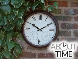 15in antique rust outdoor garden clock