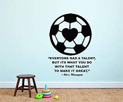 Amazon Com Alex Morgan Wall Decals For Kids Bedrooms Girls Soccer Stickers For Bedroom Sports Designs Vinyl Art Decor For Childrens Walls Cute Rare Heart Ball Girl Alex Morgan Quote Quotes Balls Size