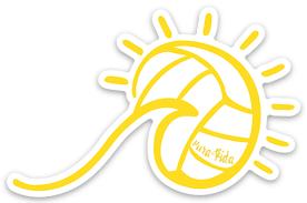 Wave And Volleyball Sun Sticker Pura Vida Volleyball