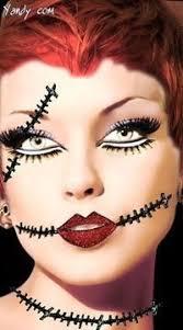 broken doll costume makeup tutorial