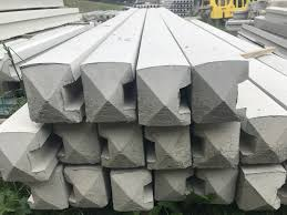 Reinforced Stop End Concrete Fence Posts