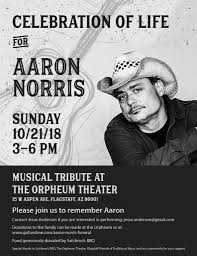 Celebration of Life for Aaron Norris - Flagstaff Friends of ...