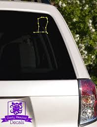 Amazon Com Overly Attached Decals Gemini Constellation Vinyl Car Decal 10 Yellow Automotive