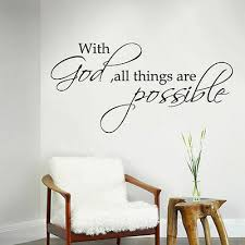 Bible Inspired Wall Decal With God All Things Are Possible Quote Vinyl Art Decor Ebay