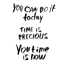 time is precious vector quote lettering stock vector
