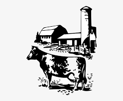 Barn Silhouette Clip Art Cow And Farm Clip Art 468x599 Png Download Pngkit