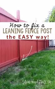 Fix A Leaning Fence Post The Easy Way Stow Tellu Fence Post Repair Fence Post Wood Fence Post