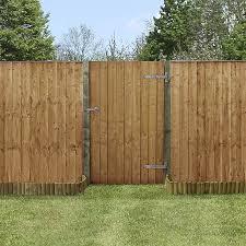 3 X 5 Pressure Treated Feather Edge Wooden Garden Gate Waltons