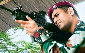 MS Dhoni practices at the Shooting Range in Kashmir; video goes viral