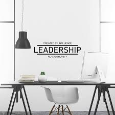 Zhehao Leadership Inspirational Wall Decal Motivational Office Decor Quote Inspired Motivated Positive Focused Wall Art Vinyl Wall Decal Gym School Classroom Words And Saying Wish