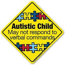 Amazon Com Autistic Child Emergency Decal Non Magnetic Automotive