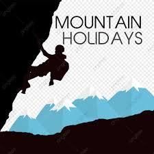 Los Escaladores De Montana Vector De Montana Mano Evitar El