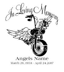 Download In Loving Memory Motorcycle Loss Svg Sticker Decal Etsy