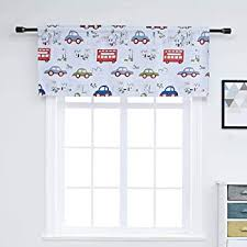 Amazon Com Wubodti Cartoon Blackout Kids Valance Curtains Room Darkening Thermal Insulated Window Treatments Valances Drapes And Curtains For Nursery Boys Bedroom Colorful Cars 59 W X 14 L Furniture Decor