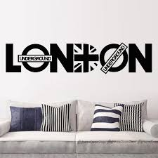 London Wall Sticker Union Jack Wall Decal Removable Home Decor Self Adhesive Wall Art Murals For Living Room Bedroom Wall Sticker London Wall Stickerwall Decals Aliexpress