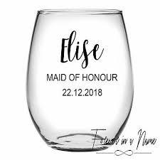 diy personalised wine glass sticker
