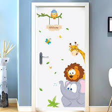 Bedroom Wall Sticker For Kids Room Stickers Elephant Giraffe Bird Living Room Door Stickers Decoration Home Accessories Appliques For Walls Art Decal From Huayama 22 96 Dhgate Com