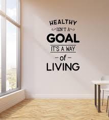 gaya hidup sehat hidup quote stiker dinding stiker ruang tamu
