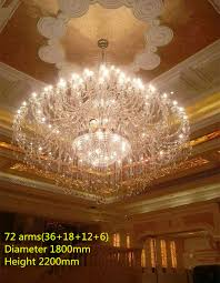 large clear crystal chandelier lamp for