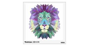Colorful Lion Wall Decal Zazzle Com