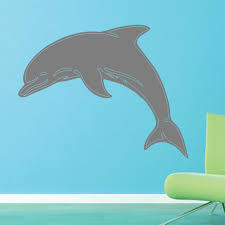 Large Dolphin Wall Decal Animal Vinyl Art Stickers