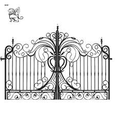 Factory Outdoor Decoration Application Forged Iron Fence Design Iron Fence Gate Igc 06 China Gate Door Wrought Iron Door Made In China Com