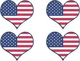 Amazon Com Rogue River Tactical Usa Flag Heart Sticker Bumper Sticker 5 X 4 Car Decal Gift Patrioyic American 4 Automotive