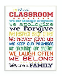 Amazing Deals On The Kids Room By Stupell In This Classroom Rules Typography Art Wall Plaque 11 X 0 5 X 15 Proudly Made In Usa