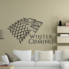 Big Discount 862437 Stark Decal Wall Decal Got Gift Game Of Thrones House King In The North Wall Sticker Home Decor Diy Wall Decals Free Shipping Cicig Co