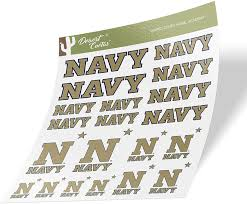Amazon Com United States Naval Academy Usna Midshipmen Ncaa Navy Sticker Vinyl Decal Laptop Water Bottle Car Scrapbook Type 1 1 Sheet Arts Crafts Sewing