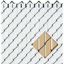 Pexco 6 Ft H X 70 In L 82 Pack Beige Chain Link Fence Privacy Slat In The Chain Link Fence Slats Department At Lowes Com