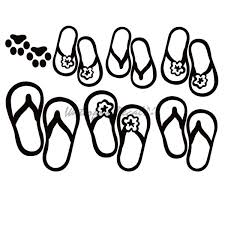 Sandal Family Dog Paw Decal Dog Paw Sticker 7154