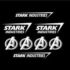 Set Of 8 Stark Industries Decal Sticker From Cardecalsbyrino On