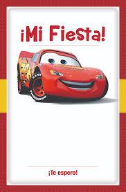 Invitacion Cars Para Imprimir Gratis Plantilla Descargar Fiesta