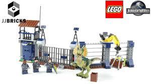 Lego Jurassic World Set 75931 Dilophosaurus Outpost Attack Lego Speed Build Youtube