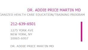 1548656572 NPI Number | ADDIE PRICE MARTIN MD | NEW YORK, NY | NPI ...