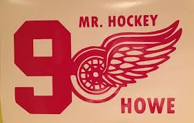 Gordie Howe 9 Detroit Red Wings Vinyl Decal Window Sticker Nhl Hockey Free S H Vinyl Decals Detroit Red Wings Window Stickers
