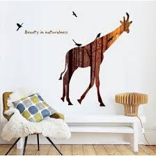 Shop Forest Deer Flying Birds Wall Stickers For Living Room Restaurant Office Decor Wall Decals Art Mural Poster Online From Best Wall Stickers Murals On Jd Com Global Site Joybuy Com