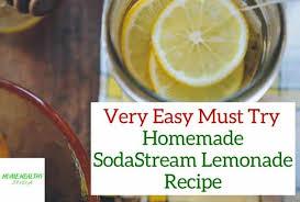 easy homemade sodastream lemonade