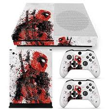 Microsoft Xbox One S Skin Decal Sticker Set Deadpool 1 Console Sticker 2 Controllers Decal Stickers 2 Small Random Pattern Stic Xbox One S Xbox Console Xbox