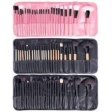china 24pcs pink makeup brush set