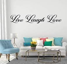 Amazon Com Live Laugh Love Wall Decals Decor Inspirational Motivational Positive Quotes Words Art Vinyl Stickers Office Living Room Bedroom Encouragement Creativity Success Phrases Sayings Li007 Home Kitchen