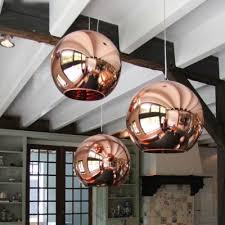 rose gold mirror ball pendant lamp
