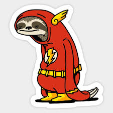 Sloth Flash Funny Decal Laptop Decals Stickers Custom Sticker Shop