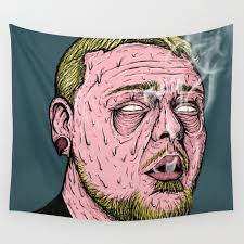 grime art 1 wall tapestry by