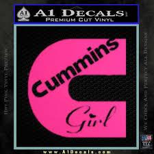 Cummins Girl Decal Sticker A1 Decals
