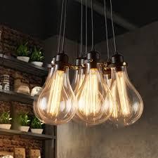 light pendant in exposed edison bulb